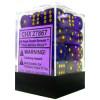 12mm d6 Dice Block: Borealis Royal Purple w/Gold Thumb Nail