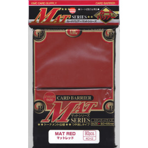 Japanese Card Sleeves - Matte Red