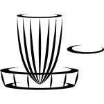 Vinyl Logo (8in Vinyl, DGA Basket and DiscGolf.com Logo)