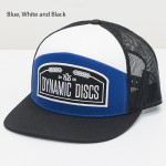 Dynamic Discs Wheat Arched Snapback Cap (Flatbill Snapback Mesh Cap, Dynamic Discs Arched Wheat Logo)