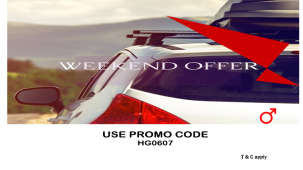 Leisure Hotels  Weekend Promo with button