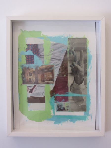 Detroit, 2011  21 x 17 inches  Collaged Painting w/acetate on paper