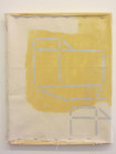 "Sharon Butler, ""Yellow and Silver HVAC (stencil),"" 2013 Pigment on canvas 18 x 24 inches"